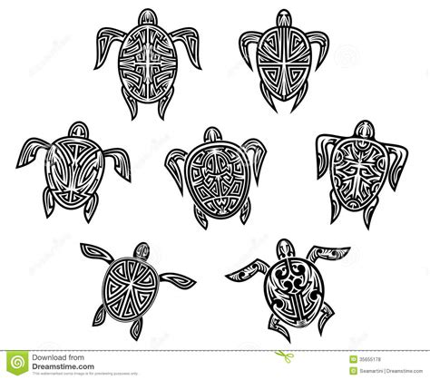 tribal turtles tattoos royalty free stock photos image