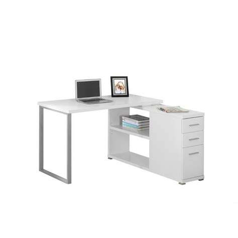 L Shaped Computer Desk In White I 7133 Cymax Computer Desk