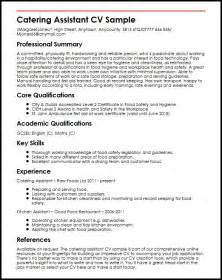 Catering Resume by Catering Assistant Cv Sle Myperfectcv
