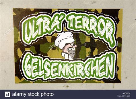 Fussball Ultras Aufkleber ultra terror gelsenkirchen fu 223 ball hooliganismus
