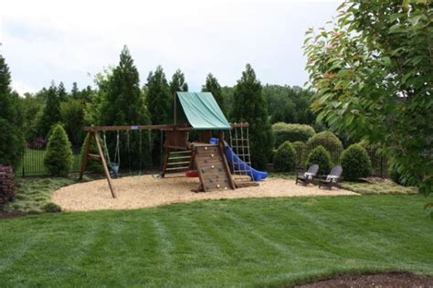 swing set landscaping cool play equipment for your garden that kids will love