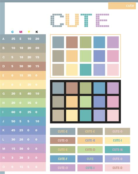 Cute Color Schemes | cute color schemes color combinations color palettes for