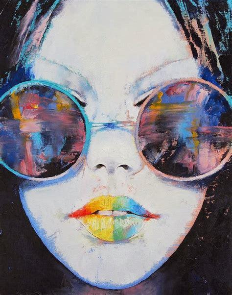 imagenes caras surrealistas pinturas cuadros lienzos caras de mujeres retratos