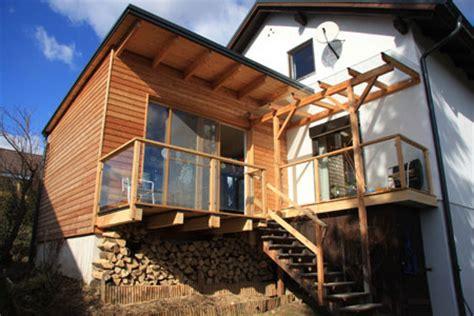 Terrasse Zu Wintergarten Umbauen by Zubau Und Erweiterung In Holzbauweise Ged 228 Mmt Und Mit