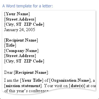 formal letter template for microsoft word add a salutation to a message outlook
