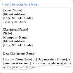Business Letter Template Microsoft Word by Add A Salutation To A Message Outlook