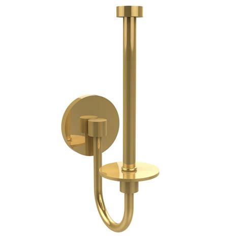 brass toilet paper holder allied brass skyline collection upright single post toilet paper holder in polished brass 1024u