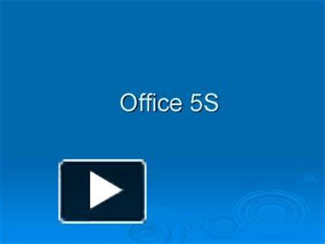Ppt Office 5s Powerpoint Presentation Free To View Id C57de Zdc1z 5s Powerpoint Template