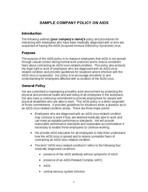 28 business policies and procedures template 6