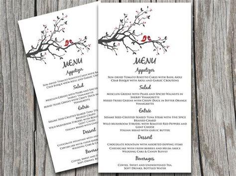 Wedding Menu Response Card Template by Bird Wedding Menu Card Template Grey Burgundy
