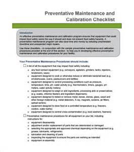 maintenance procedure template preventive maintenance schedule template 30 free word