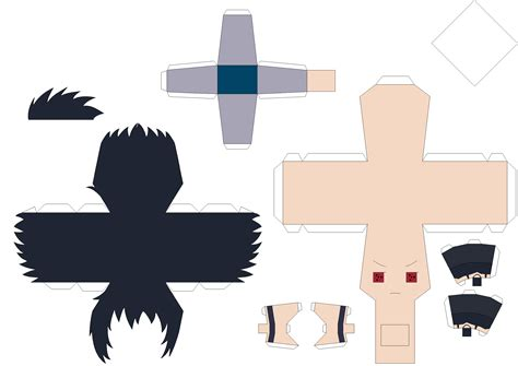 Sasuke Papercraft - paper fan template studio design gallery best design