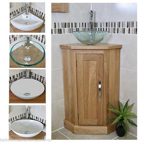 bathroom storage corner unit solid oak bathroom cabinet cloakroom corner vanity sink