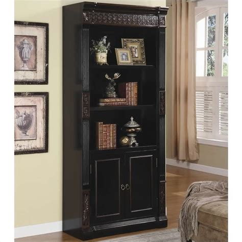 bookcase with storage cabinet coaster nicolas slim bookcase with storage cabinet in