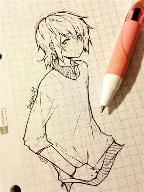 40 Amazing Anime Drawings And Manga Faces Bored Art Boy And Anime Drawing