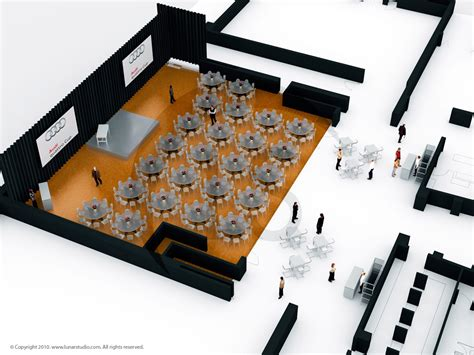 layout event planning 3d architectural visualization renderings