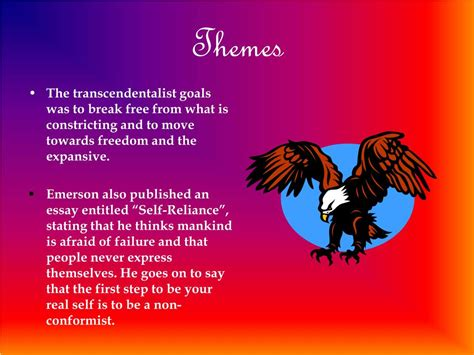 themes of transcendentalism literature ppt 1800 s 1860 s the transcendentalism period