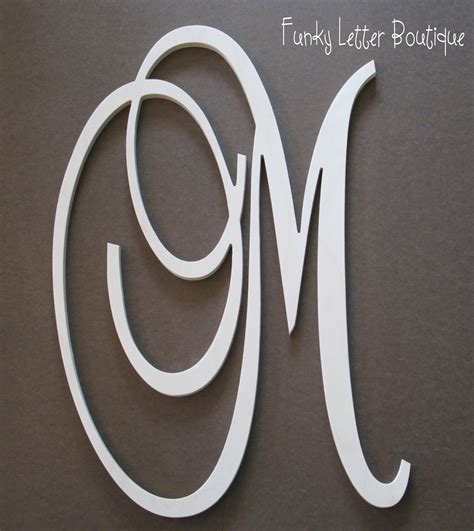 monogram letters home decor the funky letter boutique july 2012