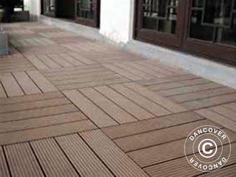 terrassefliser i plast terrassefliser i wpc 0 3x0 3m brun 6stk kasse