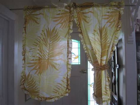 1970s curtains fab 1970 s retro kitchen tie back curtains new never