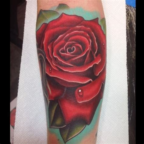 realistic red rose tattoo 60 pictures of terrific golfian