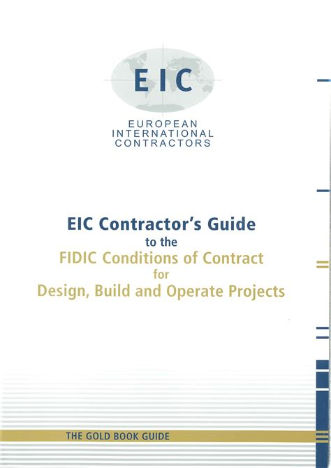 design and build contract fidic isbn 3 9808257 8 7