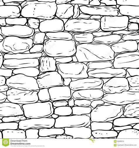 brick pattern line drawing vector hand drawn texture of brick wall or sett paving
