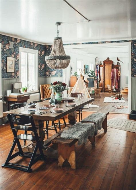 bohemian dining room curtains