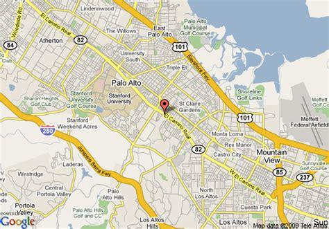 map of stanford california map of stanford motor inn palo alto