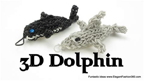 How To Make A 3d Dolphin Out Of Paper - rainbow loom 3d dolphin charm figure how to animal