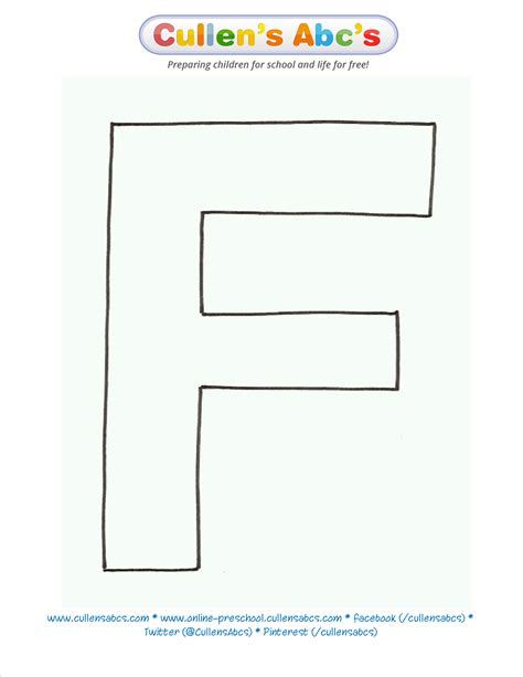 letter pattern activities letter f uppercase pattern template www cullensabcs com