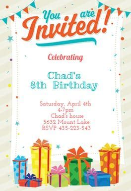 You Are Invited   Free Birthday Invitation Template