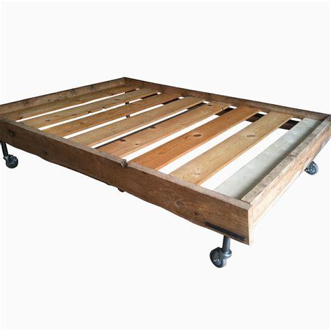 Hand Made Reclaimed Oak Bed Frame By Arc Metalworks Custom Made Bed Frame