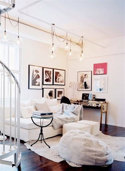 try in living room with string lights home
