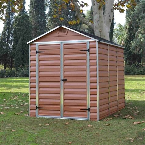 Plastic Garden Sheds 6 X 8 by Palram Skylight Plastic Apex Shed 6x8 Garden
