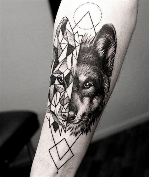 geometric tattoo new zealand wolf geometrical fusion tattoo by shirmaineanne soular