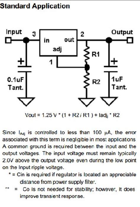 lm317 resistor values voltage regulator lm317 resistor values performance electrical engineering stack exchange