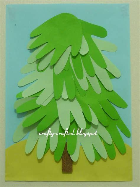 handprint tree christmas items pinterest