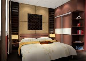 Study Bookcases Background Wall For Bed 3d House