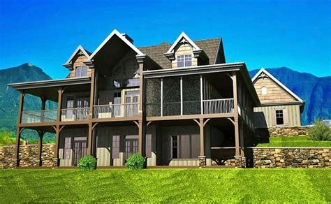 Two Story House Plans With Walkout Basement 2 Story House Plans With Walkout Basement Fresh Open Floor Plan With Wrap Around Porch New