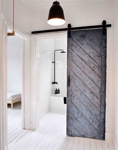 barn bathroom door home