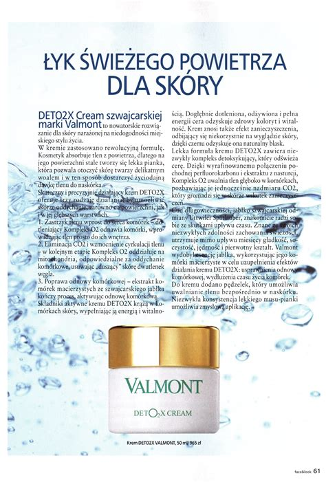 Valmont Detox by Napisali O Nas