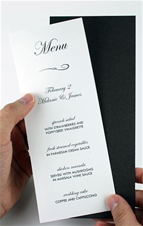 how to make a menu card tips to make layered diy invitations wedding programs