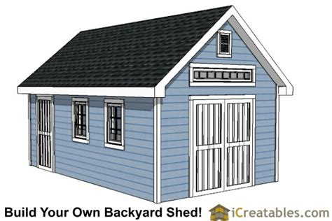 14x16 shed plans storage shed plans icreatables 12x20 traditional backyard shed plans