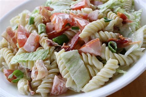 cold pasta salad recipes blt pasta recipe dishmaps