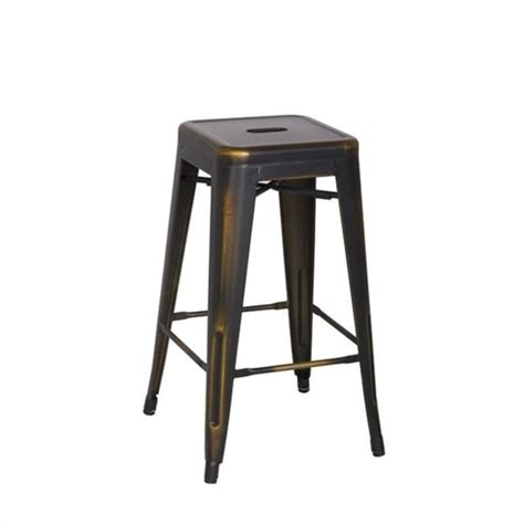 old metal bar stools office star bristow 26 quot antique metal stool antique copper