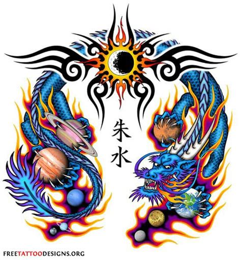 dragon with fire tattoo designs tribal tattoos designs cliparts co