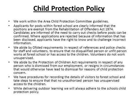child protection policy template employment references resume references available upon