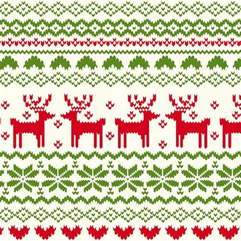 pattern for fabric reindeer back in stock fairisle reindeer pattern on ivory cotton