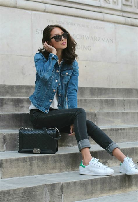 Is Wearing A by Due Our Denim On Denim Trend File And